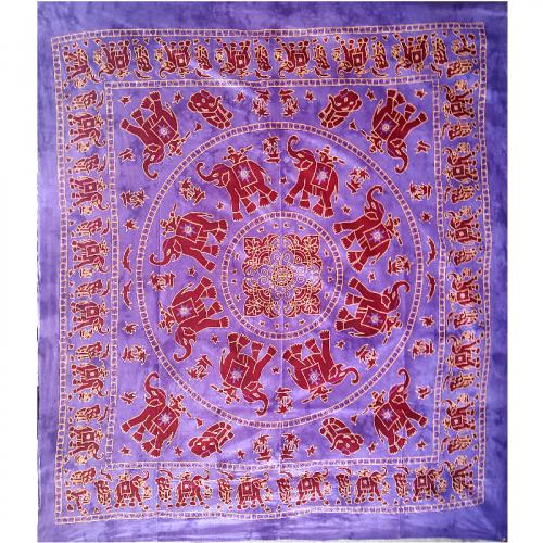 Purple Elephant Double Tapestry