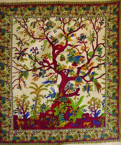 Ind Spread Beige Tree/Life