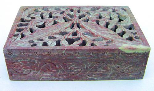 Soapstone Folaite Box
