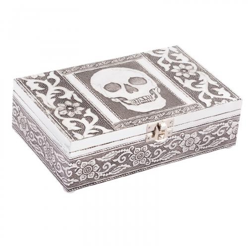 Skull Tin Jewelry Box