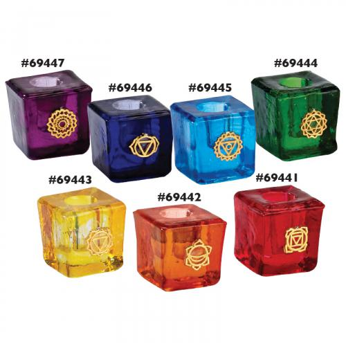 Chakra Glass Mini-Candle Holder