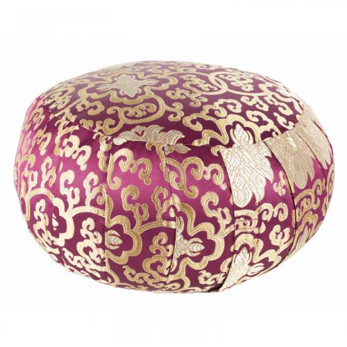 Gold And Burgundy Meditation Pillow